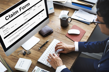 Claim Form Document Fefund Indemnity Concept Imagens - 78395286