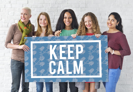 Keep Calm Stay Cool Be Patient Serene Peaceful Stock Photo