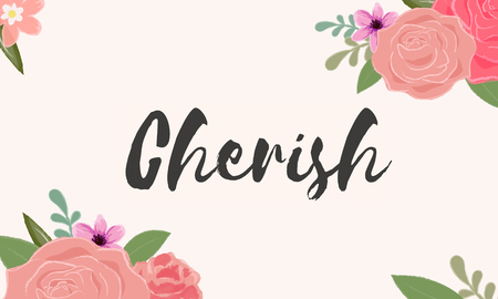 Cherish Love Letter Message Words Graphic