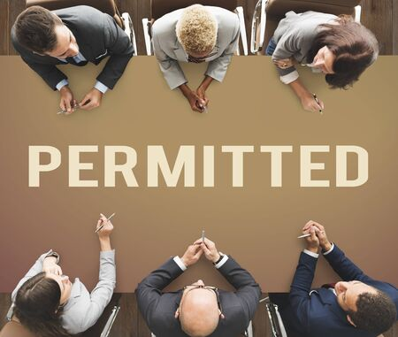 permitting: Permitted License Authorization Allowance Performance Stock Photo