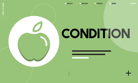 Website interface with condition concept