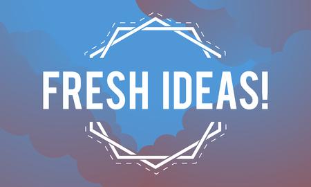 Inspiration Fresh Ideas Dream Word Banco de Imagens