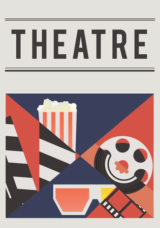 Illustration of movies theatre media entertainment