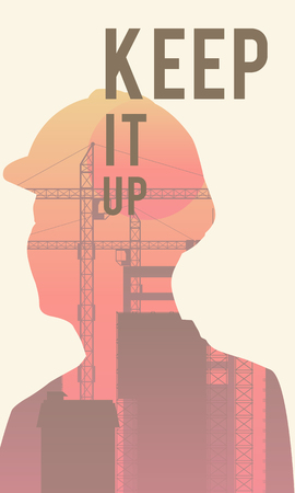 Poster with keep it up quote