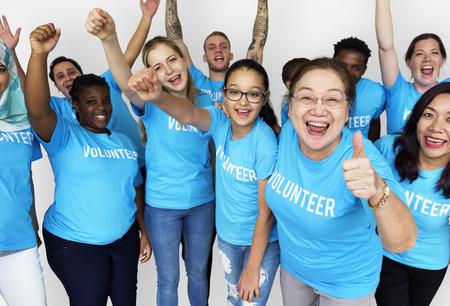 Grupo de personas diversas como donante Voluntario del servicio comunitario Foto de archivo - 78395472