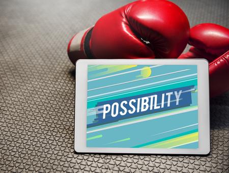 Possibilité Icône de probabilité souhaitable Banque d'images - 78395709