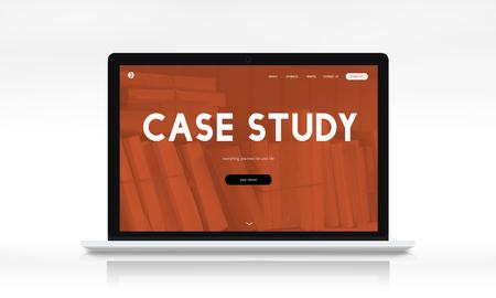 Afstandsonderwijs online webpagina-interface Stockfoto