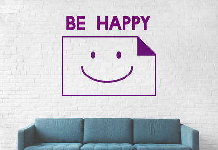 Paper Sheet Smiling Happiness Word