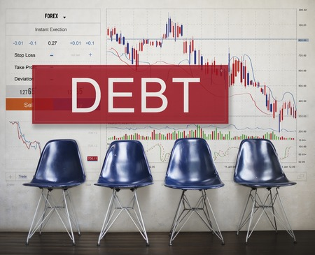 Debt Chart Graphic Diagram Concept Фото со стока - 78315594