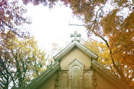 Church Believe Faith Religious Cemetery Stock Photo