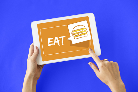 Burger Fast Food Icon Graphic Stock Photo - 78315975