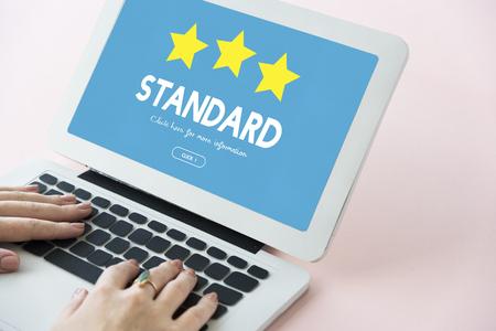 Standaardgarantie Quality Assurance Concept Stockfoto