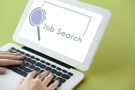 募集の仕事職業検索の概念 写真素材