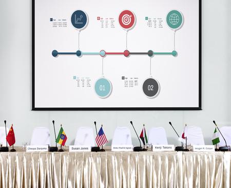 Graphic of global business data financial analysis Stok Fotoğraf