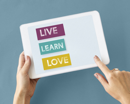 動機の愛の生活は、毎日を学ぶ 写真素材