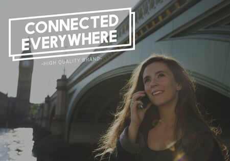 Communication Connection Online Technology Community Word Reklamní fotografie