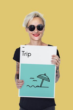 short trip: Summer Holiday Vacation Trip Directions Wanderlust