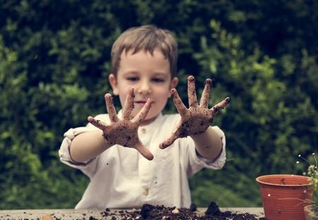 Little Kid Playful Cheeky Dirt