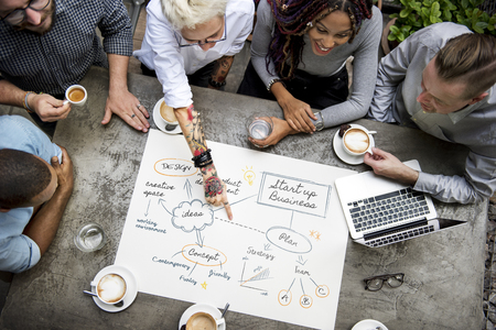 Collaboration Connection Team Brainstorming Unity Stock Photo