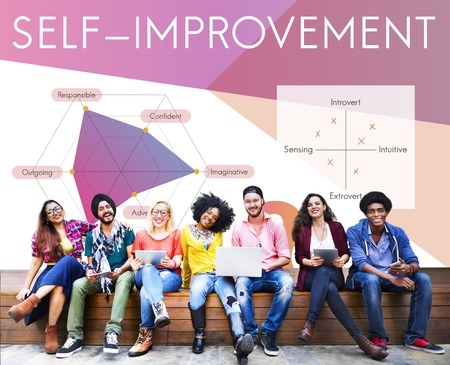 Development Personality Improvement Graphic Word Symbol Imagens