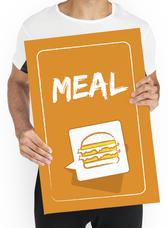 Burger Fast Food Icon Graphic Stock Photo - 78318062