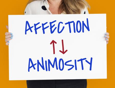 Affection Animosity Love Hate Oppsite Stock Photo