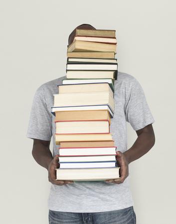 교과서 학교 교육을하는 아프리카 사람