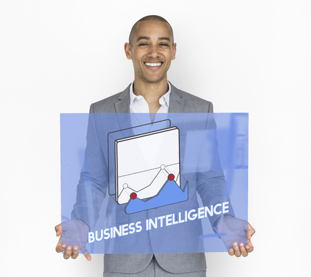 Man with business intelligence concept Standard-Bild