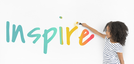Inspiration Courage Liberty Passion Words Stock Photo