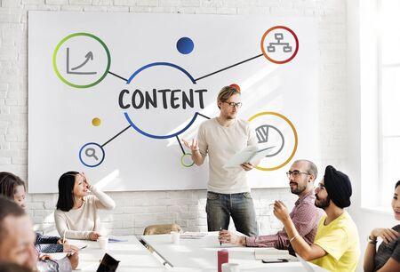 Content Data Diagram Information Concept