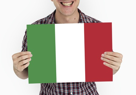 Green white red Italian flag