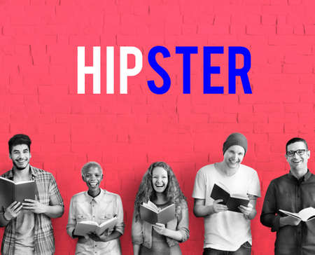 study group: Hipster Freedom Youth Teenager Graphic Word Stock Photo