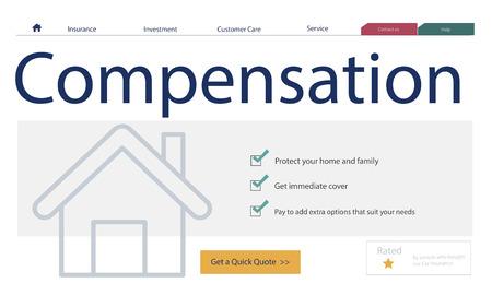 House with compensation concept Zdjęcie Seryjne