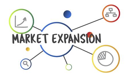 ビジネス マーケティング研究図グラフィック コンセプト