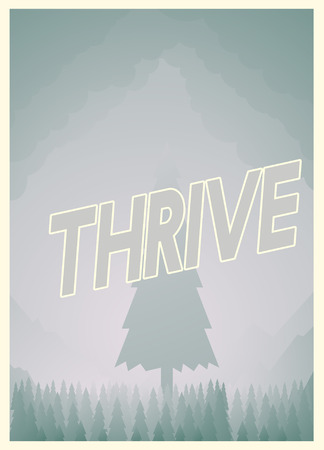Thrive poster design 版權商用圖片