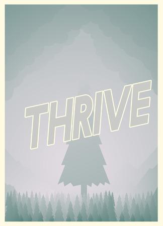 Thrive poster design Imagens
