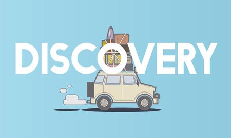 Illustratie van de ontdekkingsreis reisreizen reizen Stockfoto