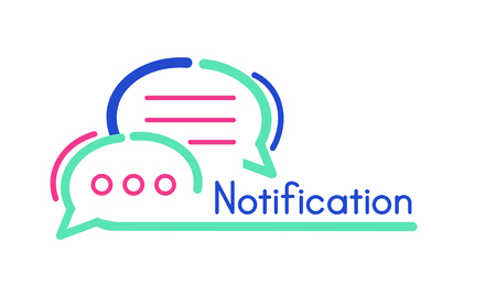 Notification Message Internet Technology Concept Stock Photo