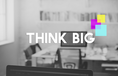 Think Big Square Motivation Thoughts Word Imagens