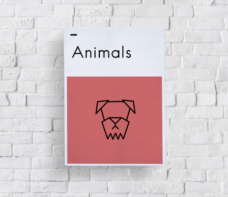 pet store advertising: Adopt Animals Best Friends Dog Icon Stock Photo