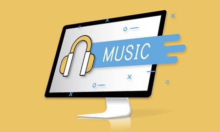 Music Streaming Sound Media Entertainment 版權商用圖片