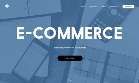 Website with e-commerce concept