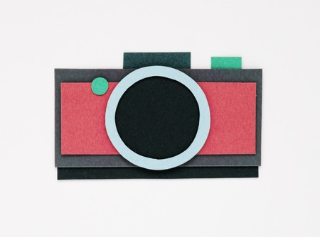 Illustration of camera photography collect memories Stok Fotoğraf