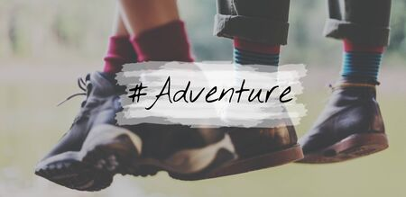 Adventure Destination Discover Expedition Icon Stock Photo