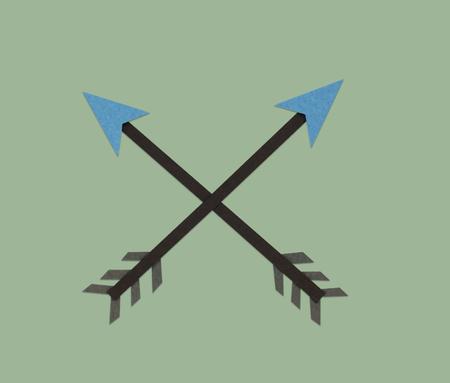 Crossed Arrow Archery Direction Icon Symbol Stock Photo