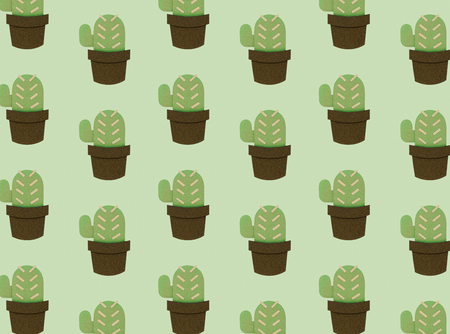 collection of cactus planting hobby illustration Stock fotó