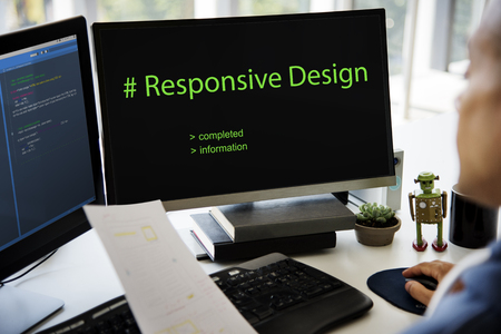 Web Design Coding Program Content Graphic Reklamní fotografie