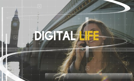 Digital Life Technology Lifestyle Connection Word