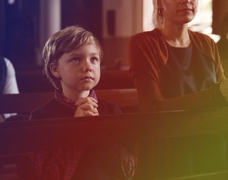 Kids Pray Church Religion Believe
