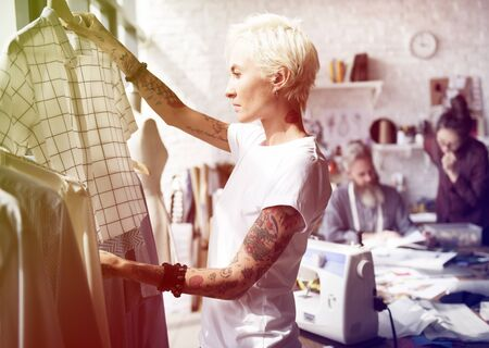 messy clothes: Fashion designer design for tailor made